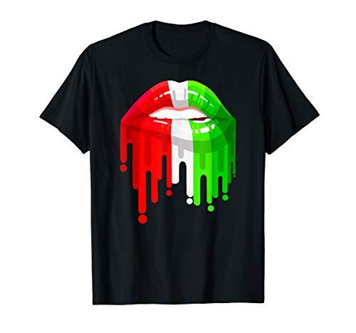 Iran flag luscious lips shirt T-Shirt
