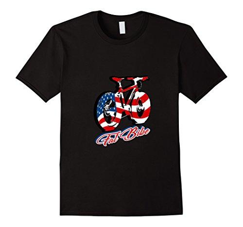 Mens American Flag Mountain Bike fat bike t-shirt Large B...