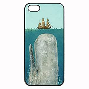 Moby Dick Huge Whale under Boat Unipue Custom Image Case Case For Htc One M9 Cover Case For Htc One M9 Cover Diy Durable Hard for Case For Htc One M9 Cover , High Quality Plastic Case By Argelis-sky, Black Case New