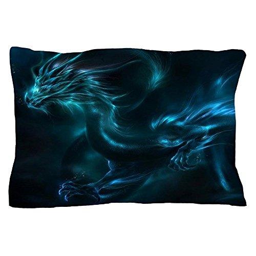 Dragon Pillowcase - CafePress - Blue Dragon - Standard Size Pillow Case, 20