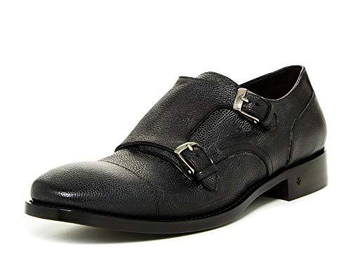 John Varvatos Men's Fleetwood Double Monk Loafers US 9 Charcoal