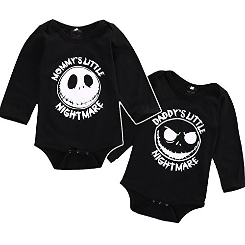 Quietcloud Newborn Infant Baby Boys Girls Long Sleeve Romper Jumpsuit Halloween Outfit size 12-18 Months Daddy's Little (Baby Daddy Halloween Special)