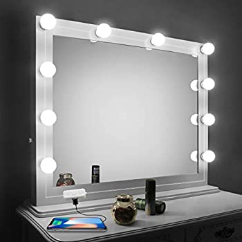 Mirror Lighting Throughout Vanity Mirror Lights Kitled For With Dimmer And Usb Phone Chargerled Makeup Kit Hollywood Style Lighting Fixture Strip 6500k Chende Led Dimmable