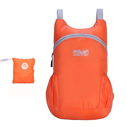 Hombres Y Mujeres Ligero Plegable Bolsa De Piel Al Aire Libre Alpinismo Viajar Movimiento Impermeable Mochila , rose red orange