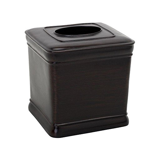 Zenna Home, India Ink Marion Tissue Box Cover, Oil Rubbed Bronze ()