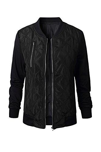 Casual Le Cotone Alla Donne Chiudi Black Giacche Autunno Solido Outwear Moda Cappotto wqFfFOCx