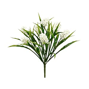 "15"" Mini Hyacinth Bush White (pack of 24) 54"