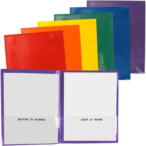 StoreSMART - Plastic School / Home Folders Archival Folders - Primary Colors 72 Pack - 12 Each of Six Bright Colors (SH900PCP72ENG) by STORE SMART (Image #5)