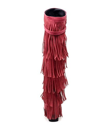us5 Uk3 Eu36 Zapatos Vestido 5 La Punta Uk8 Moda Mujer Tacón Vellón Pink Eu42 Redonda Amarillo 5 Pink Uk Cuña 5 Casual Cuñas Botas De Xzz Rosa Cn35 5 Negro A us10 Cn43 pxqCw7Adx