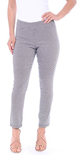 (Popana Womens Stretch Pull On Dress Pants Ankle Length Work Casual - Made in USA Small M1)