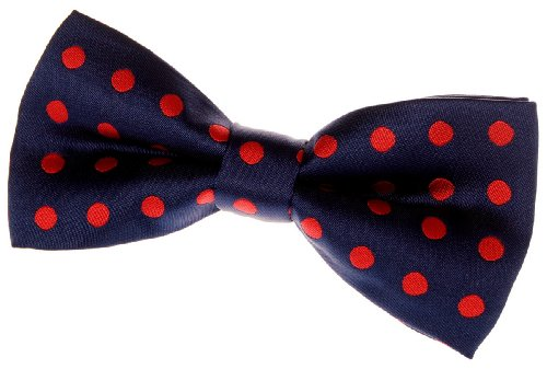 - Retreez Classic Polka Dots Woven Microfiber Pre-tied Bow Tie (4.5