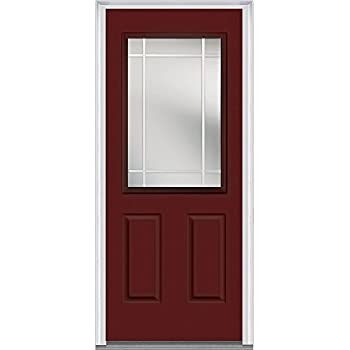 National Door Company Zz05544l Fiberglass Burgundy Left Hand