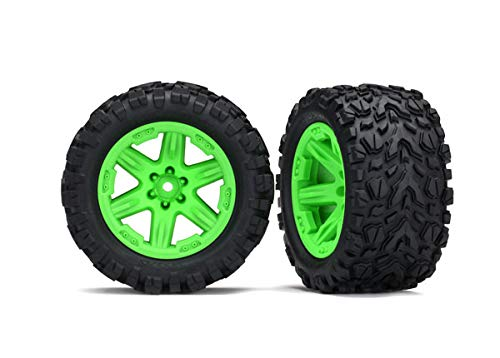 Traxxas 6773G 2.8'' Green RXT Wheels with Talon Extreme Tires  (Rustler 4X4 F/R)