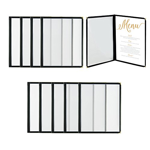 Houseables Menu Covers, Menus Holder, 8.5