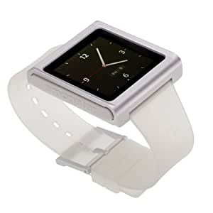 nanox - Apple iPod nano watch conversion kit (Silver Case / Clear Strap)