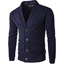 Whatlees Mens Casual Slim Button Down Cardigan