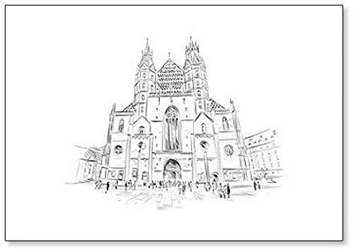 Catedral de San Stephen. Viena, Austria. Imán para nevera con ...
