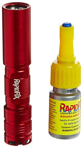 RapidFix UV Liquid Plastic Adhesive with UV Flashlight, 10 mL