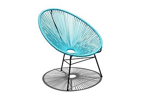 Harmonia Living HL-ACA-LC-GBB Acapulco Lounge Chair, Glacier Blue