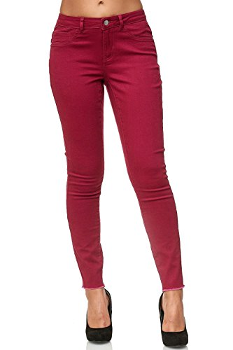 D2398 Viola Donna Skinny Pantaloni Tubo Jeans Caviglia Reg 1wYP6q