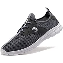FANIC Men's Comfortable Breathable Casual Running Shoes Full Mesh Lightweight Athletic Walking Shoes