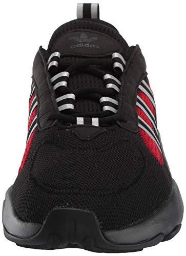 adidas Originals Men's Haiwee Sneaker, core Black/Silver met./Scarlet, 10.5 M US