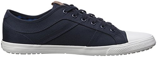 Ben Sherman Mens Mason Lo Mixed Media Mode Sneaker Navy Blazer