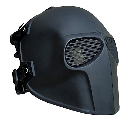Gas Mask Costume Ideas (Army of Two Airsoft Mask Protective Gear Full Face Outdoor Sport Fancy Party Masks Bb Gun Mesh eyes (Flat Black))