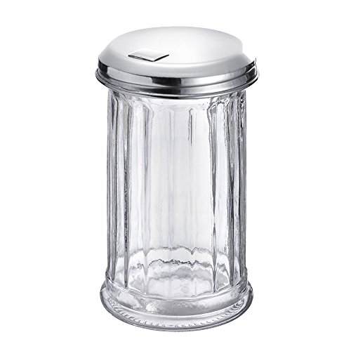 Westmark Germany 'New York' Glass Sugar Dispenser with a Flap Top, Stainless Steel by Westmark (Image #1)