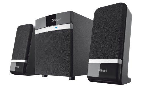 Trust Raina 2.1 Lautsprechersystem mit Subwoofer (20 Watt, 3,5mm Klinkenstecker, USB) schwarz