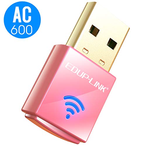EDUPLINK Mini USB WiFi Adapter 600Mbps 802.11AC Dual Band 2.4G/ 5G Wireless AC600Mbps WiFi Dongle Network Card for Laptop PC Windows XP/7/8/10/Vista and Mac OS X 10.6-10.13