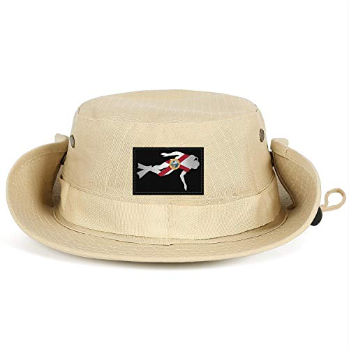 Unisex Adults School Diver Outline of The Florida Flag Dad Golf Fishing Cap Sunscreen Adjustable Snapback