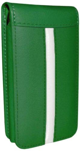 Piel Frama Magnetic - Funda de piel para Apple iPhone 5C, edición Race, verde/blanco