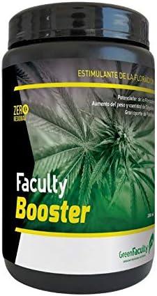 GreenFaculty Faculty Booster. Fertilizante ABONO POTENCIADOR FLORACIÓN. Polvo Soluble 500 g. Cero Residuos. Apto para Cultivo Medicinal