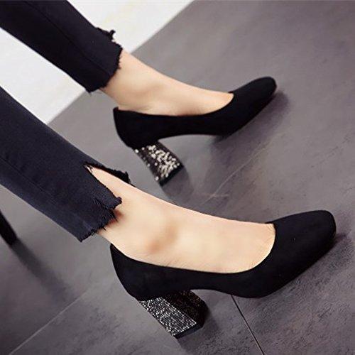 calzatura partito tacco Moda di FLYRCX col alta ladies shallowly singola shallowly Scarpe personalità a scarpe Otgwvqg4