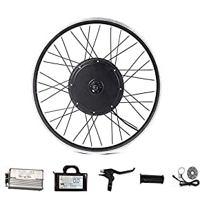48V Electric Bicycle Conversion Kit Front & Rear Motor Wheel Drive 500W 1000W 1500W for Ebike 20-29 Inch 700C MTB Bike with LCD Display