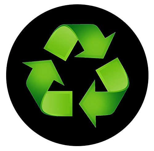 (Recycle Sticker Trash Decal For a Recycling Trash Can 3