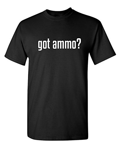 Feelin Good Tees Got Ammo? Mens Military 2nd Amendment Funny Shooting Gun T Shirt XL Black