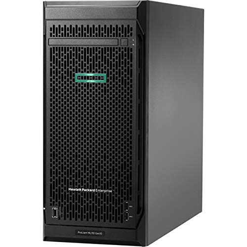 Hewlett Packard Enterprise HPE ProLiant ML110 G10 4.5U Tower Server – 1 x Xeon Silver 4210-16 GB RAM HDD SSD – Serial ATA/60