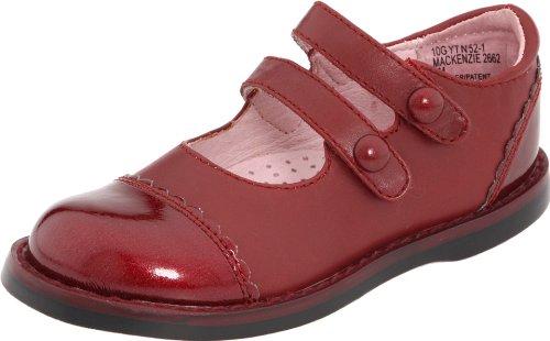 FootMates Mackenzie,Dark Red Nappa/Patent,10 M US Toddler by FootMates