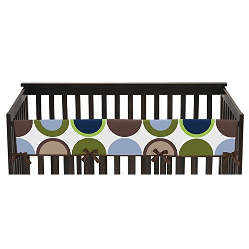 Price comparison product image Designer Dot Collection Multicolored Microfiber 52-inch x 18-inch Long Crib Rail Guard Cover