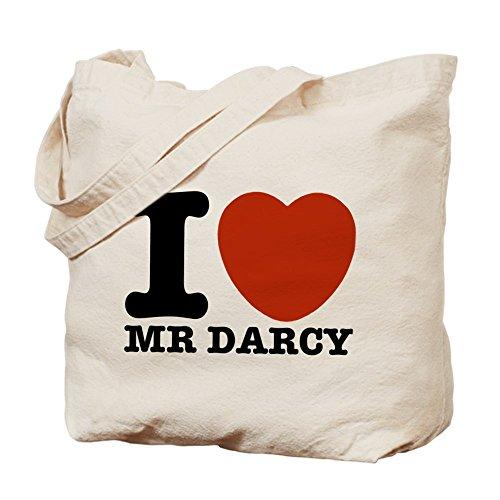 CafePress I Love Darcy - Jane Austen - Natural Canvas Tot...