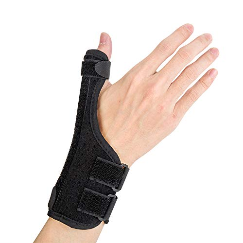 (Thumb Spica Splint, Suitable for Arthritis, Tendonitis, Carpal Tunnel Pain Relief. Wrist, Finger and Thumb Stabilizer, Lightweight and Breathable, Adjustable Size )