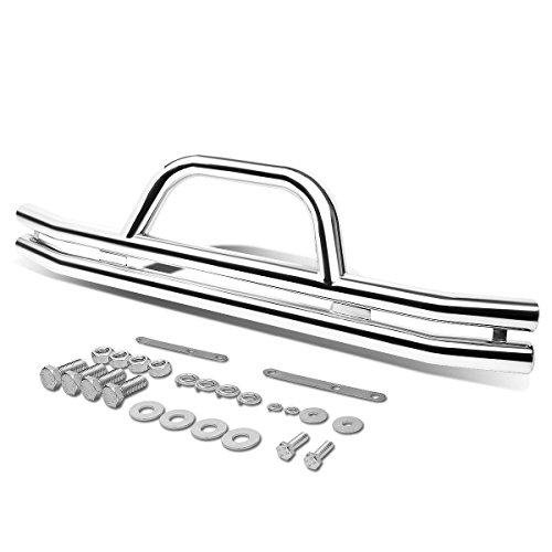 - For Jeep Wrangler 3 inches Stainless Steel Front Brush Bumper Grille Guard (Chrome)