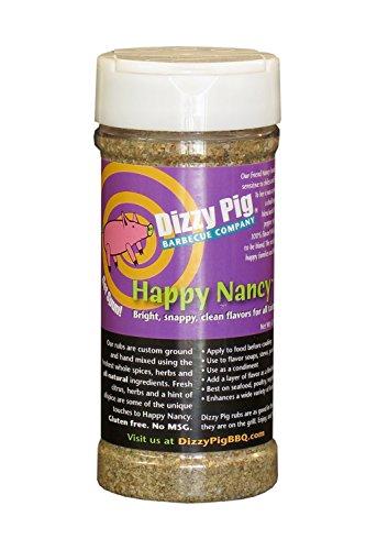 Dizzy Pig Happy Nancy Mild Seasoning Spice Blend and BBQ Rub - 8 (Cook Venison Burgers)