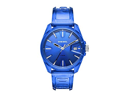 Diesel MS9 Three-Hand Blue Transparent Watch
