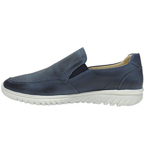Becool. Zapatos Casual Ultraligeros con Piso Goma Blanco - Modelo 2424 MARINO