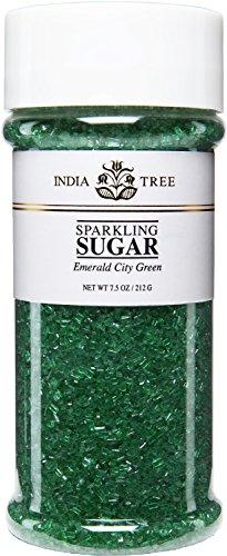 (India Tree Emerald City Green Sparkling Sugar, 7.5 Ounce)