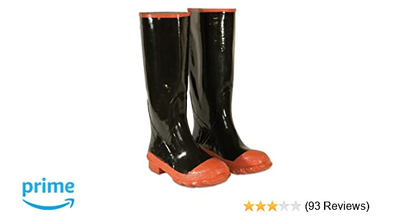 d7b7432907a1d CLC Custom Leathercraft Rain Wear R21016 Red Sole and Toe Rubber Boot, Size  16