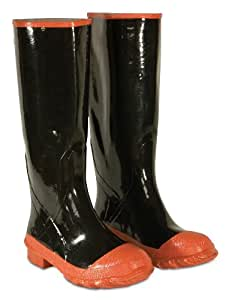 CLC Custom Leathercraft Rain Wear R21016 Red Sole and Toe Rubber Boot, Size 16